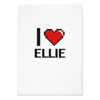 I Love Ellie Digital Retro Design 13 Cm X 18 Cm Invitation Card