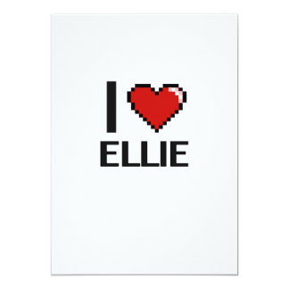 I Love Ellie Digital Retro Design 5x7 Paper Invitation Card