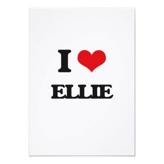 I Love Ellie 13 Cm X 18 Cm Invitation Card