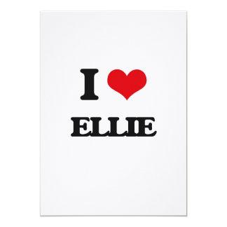 I Love Ellie 5x7 Paper Invitation Card