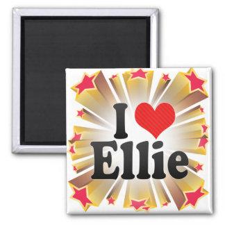 I Love Ellie Fridge Magnet