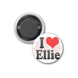 I love Ellie 3 Cm Round Magnet