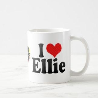 I Love Ellie Classic White Coffee Mug