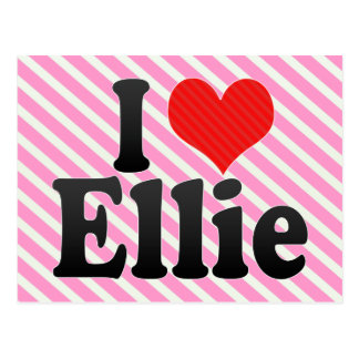 I Love Ellie Postcard