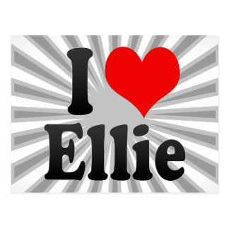 I love Ellie Postcard