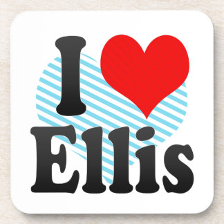 I love Ellis Drink Coasters