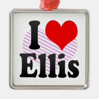 I love Ellis Silver-Colored Square Decoration