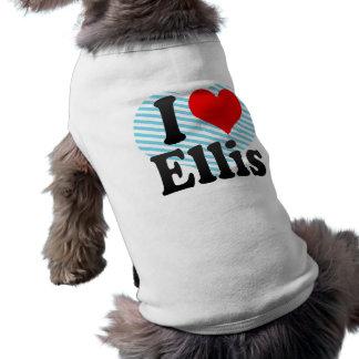 I love Ellis Sleeveless Dog Shirt