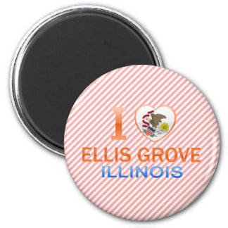 I Love Ellis Grove, IL Fridge Magnet