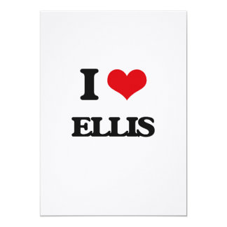 I Love Ellis 5x7 Paper Invitation Card