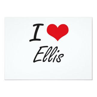 I Love Ellis 13 Cm X 18 Cm Invitation Card