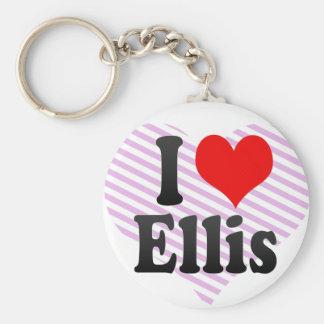 I love Ellis Basic Round Button Key Ring