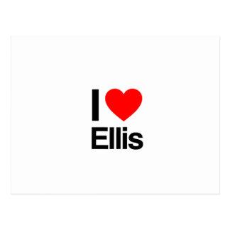 i love ellis postcards