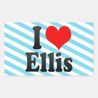 I love Ellis Rectangular Stickers