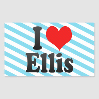 I love Ellis Rectangular Sticker
