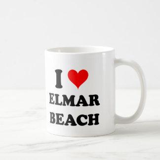 I Love Elmar Beach Coffee Mugs
