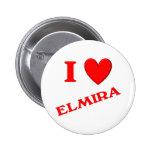 I Love Elmira 6 Cm Round Badge
