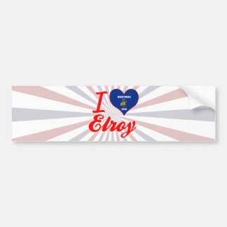 I Love Elroy, Wisconsin Car Bumper Sticker