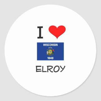 I Love Elroy Wisconsin Stickers
