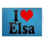 I love Elsa Greeting Card