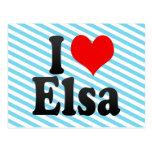 I love Elsa Post Card
