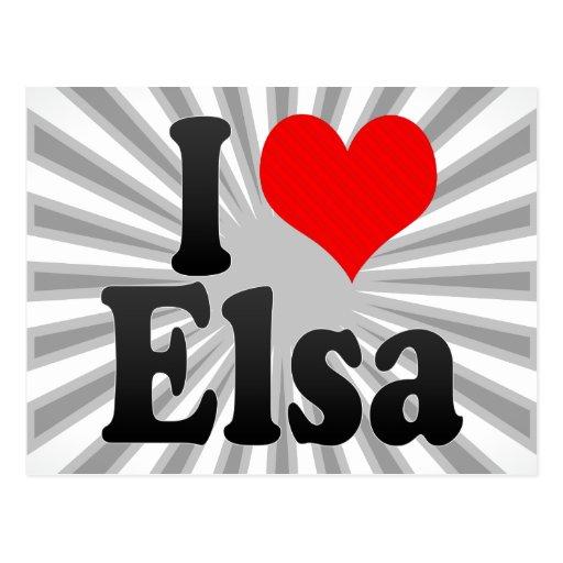 I love Elsa Postcard