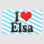 I love Elsa Rectangle Stickers