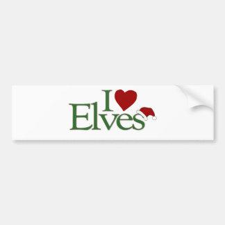 I Love Elves Bumper Sticker