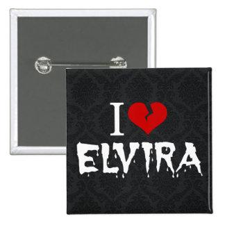 I Love Elvira Broken Heart 15 Cm Square Badge