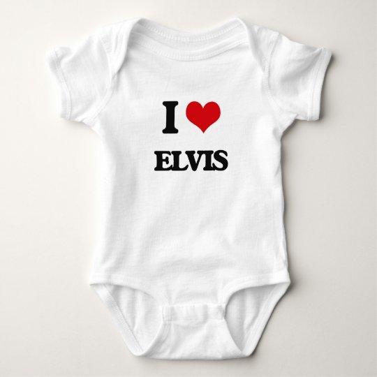 I Love Elvis Baby Bodysuit