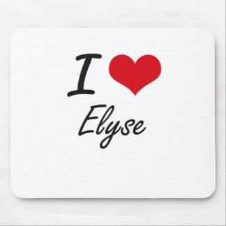 I Love Elyse artistic design Mouse Pad