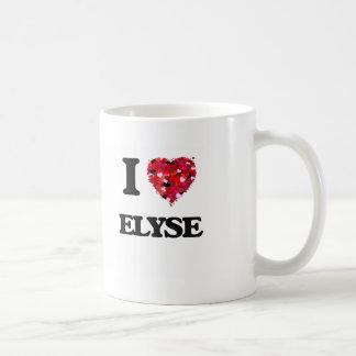 I Love Elyse Basic White Mug