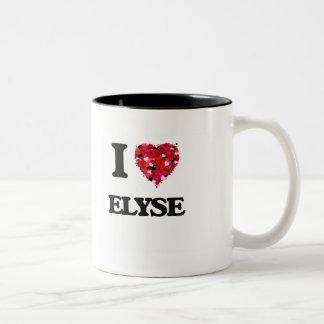 I Love Elyse Two-Tone Mug