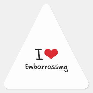 I love Embarrassing Triangle Sticker