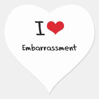 I love Embarrassment Heart Stickers