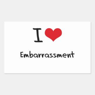 I love Embarrassment Rectangular Sticker