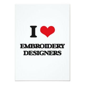 "I love Embroidery Designers 5"" X 7"" Invitation Card"