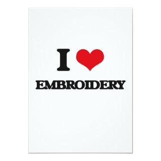"I Love Embroidery 5"" X 7"" Invitation Card"