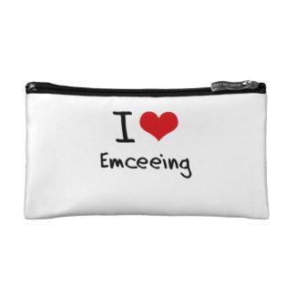 I love Emceeing Makeup Bags