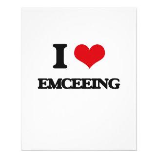 I love EMCEEING 11.5 Cm X 14 Cm Flyer