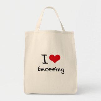 I love Emceeing Tote Bags
