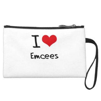 I love Emcees Wristlet Clutches