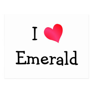 I Love Emerald Postcard