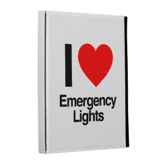 i love emergency lights iPad folio covers