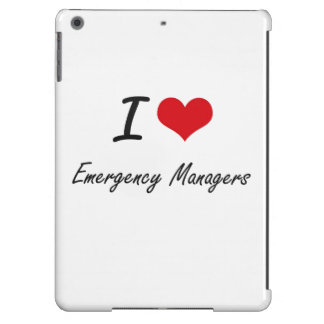 I love Emergency Managers iPad Air Cover