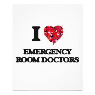 I love Emergency Room Doctors 11.5 Cm X 14 Cm Flyer
