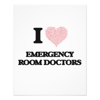 I love Emergency Room Doctors (Heart made from wor 11.5 Cm X 14 Cm Flyer