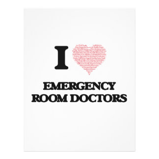 I love Emergency Room Doctors (Heart made from wor 21.5 Cm X 28 Cm Flyer