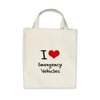 I love Emergency Vehicles Canvas Bag