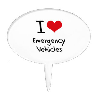 I love Emergency Vehicles Cake Picks